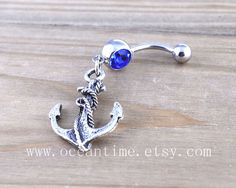 Anchor Belly Button Rings,Navel Jewlery, anchor belly button ring,vintage anchor, navy ring,summer jewelry on Etsy, $5.99