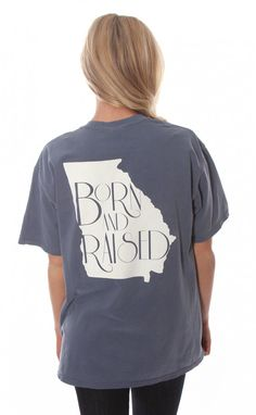 Riffraff | born & raised tee - Georgia [blue] Need this but Mississippi of course!