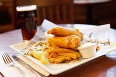 Fish and chips for a British Olympics Party