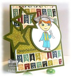 LOVE the layered stars on this card by Vicki!