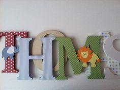 Circus themed wooden letters