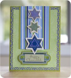 Chanukah Hanukkah Addition Scrapbook Card Project Idea from Creative Memories.  For materials to make this card visit www.mycmsite.com/abravard.