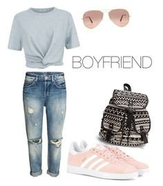 """BOYFRIEND #2"" by flobetty on Polyvore featuring Mode, T By Alexander Wang, adidas Originals, Ray-Ban und NLY Accessories"
