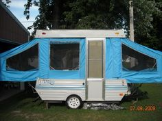 Great canvas replacement for pop up camper. They got everything off ebay but you can also get some here: http://www.beaconfabric.com/ I love this!!!