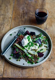 From The Kitchen: Warm Lentil, beetroot & fennel salad with peas, buffalo…