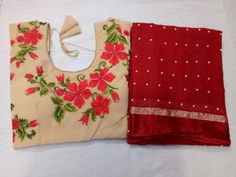 Saree stuff: pure Georgette with pearls pasted all over saree with Designer embroedary blouse on velvet stuff max size:38