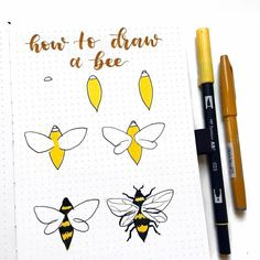 Bees and Honeycomb Bullet Journal Theme — Sweet PlanIt Bullet Journal Notebook, Bullet Journal Ideas Pages, Bullet Journal Inspiration, Doodle Lettering, Hand Lettering, Bee Drawing, Drawing Tablet, Drawing Sketches, Sketching