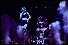 Taylor Swift Performs in Europe While Calvin Harris Watches Her Cats (Video)