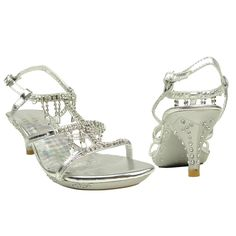Kids Glamorous Embellished Chandelier High Heel Dress Sandals Silver Party Shoes little girls cute pretty special occasion shoes for wedding pageant Flower Girl Shoes, Little Girl Shoes, Kid Shoes, Girls Shoes, Me Too Shoes, Girls Dress Sandals, Pageant Shoes, Pageant Dresses, High Heels For Kids