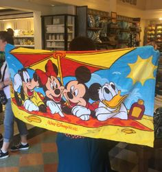 Disney Discovery- Disney Towel/Terry Cloth Backpack