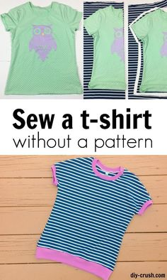 How to sew a t-shirt without a pattern DIY Crush