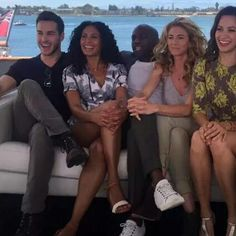 """Chris Wood's fan page on Instagram: """"Chris and the cast of containment giving an interview for TV Guide"""""""