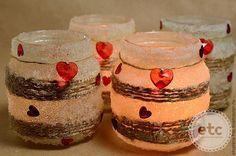 """Купить Подсвечник в баночке """"Теплая любовь"""" - белый, подсвечник, баночка стеклянная, сувенир, Свечи, любовь"""