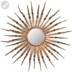 Safavieh Home Collection Sun Mirror, 33.1 by 3.9 by 33.1-Inch, Copper - Improve your home (*Amazon Partner-Link)
