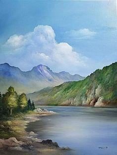 Watercolor Landscape Paintings, Landscape Art, Watercolor Paintings, Forest Mural, Mountain Landscape, Nature Pictures, Painting Techniques, Beautiful Landscapes, Painting Inspiration