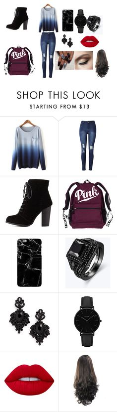 """""""sunday outfit"""" by serenityreigndavis on Polyvore featuring Charlotte Russe, Tasha, CLUSE and Lime Crime"""