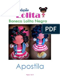 Amigurumi Magazine Kostenlose PDF-Rezepte in Portugiesisch Crochet Patterns Amigurumi, Amigurumi Doll, Diy Crochet, Crochet Hats, Amigurumi For Beginners, Monkey Pattern, Crochet Squares, Free Pattern, Crochet Necklace