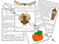 Thanksgiving Story and Activity Pack - Comprehension, Voca