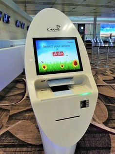 From the check-in kiosks and automated bag drop to Check In Kiosk, Airport Check In, Self Service, Digital Signage, Machine Design, Store Design, Industrial Design, Singapore