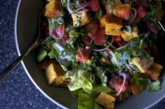 cornbread salad by smitten kitchen, similar to panzanella which we just discovered.  Must try!