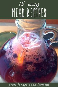Homemade mead is simple, delicious, and fun to make. Here are 15 easy mead recipes for beginners! Learn how to make your own mead. cider recipes for beginners Homemade Wine Recipes, Homemade Alcohol, Homemade Liquor, Mead Wine, How To Make Mead, Mead Recipe, Honey Wine, Do It Yourself Food, Fermentation Recipes