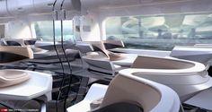 Future Train Interior Design, Edon Guraziu on ArtStation at https://www.artstation.com/artwork/Y83wP