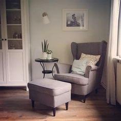 #wohnzimmer #landhausstil #ikeadeutschland #ikea #shabby #shabbyhome #sessel #ohrensessel #strandmon #hemnes #zuhause #home