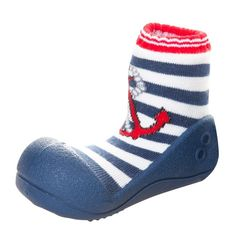 Attipas Infant 'Marine Anchor' and Rubber Walking Shoes
