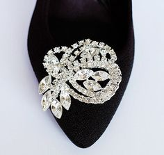 Bridal Shoe Clips Crystal Rhinestone Shoe Clips by LXdesigns, $39.00