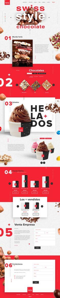 sitio de Chocolates & Helados on Behance