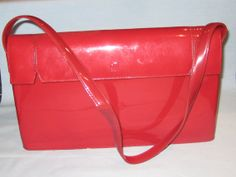Vintage Red Patent Leather 1950's Handbag by BailouBayTreasures, $35.00