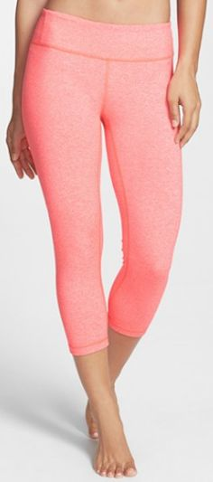 Coral Capri Leggings