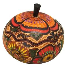 Gourd art is an ancient tradition of the indigenous people of Peru. This box from Ten Thousand Villages is handmade by fairly paid artisans.