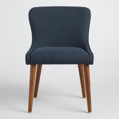 Navy Zarah Petite Wingback Upholstered Chairs Set of 2 | World Market