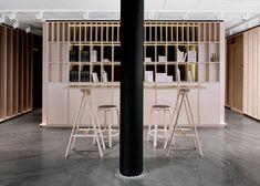 Bergen International Festival offices designed to resemble a workshop