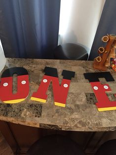 Mickey Mouse DYI Letters