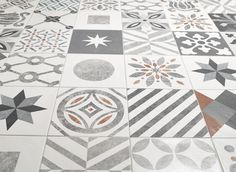 """Tiles about compositions of """"Cementine"""" category, available in single section or in patchwork. A gallery show different uses of them. Sats, Crete, Interior Decorating, Interior Ideas, Tiles, Kids Rugs, Design, Home Decor, Bathroom Remodeling"""