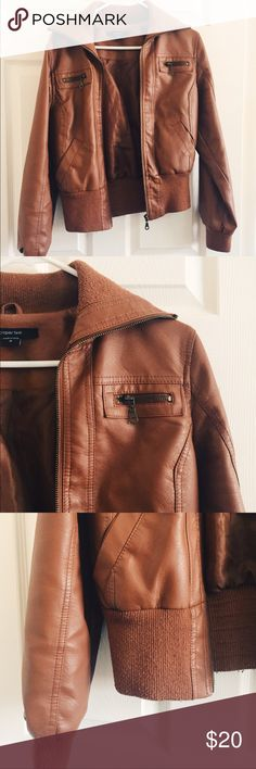 Perfect Cognac Leather Jacket I LOVE this jacket! It's in great condition, only a little pilling around the collar and cuffs. It looks great with everything. I invested in a newer version and would love this to be loved by someone else! Jackets & Coats