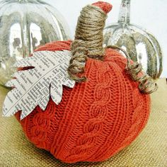Easy Sweater Pumpkins!