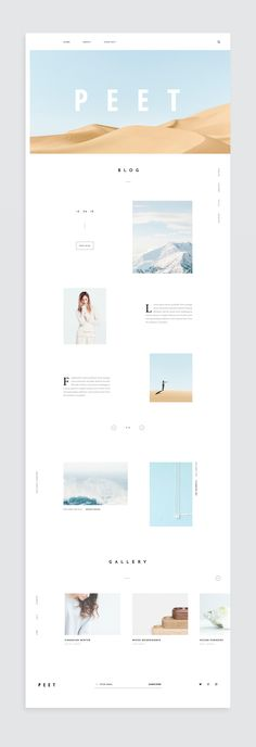 Content-Based Website on Behance