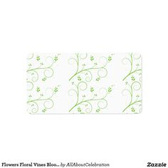 Flowers Floral Vines Blooming Colorful Letter Note Address Label