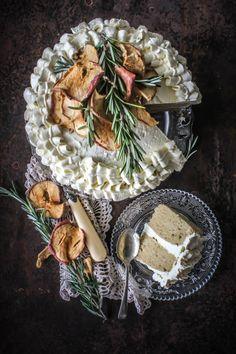 Cinnamon Cake With Apple Rosemary Buttercream