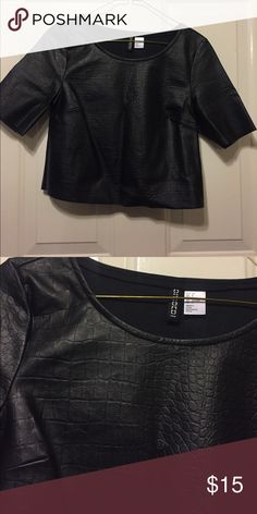 H&M leather shirt ✨ H&M Tops