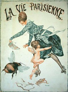 Cupid and the Bee,Chéri Hérouardprint for La Vie Parisienne June 1917. (Love this print!)