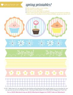 FREE Spring Time Printables