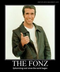Image Happy Days Tv Show, The Fonz, Laverne & Shirley, Non Plus Ultra, 70s Tv Shows, Classic Tv, Classic Cars, Tough Guy, Hollywood Actor