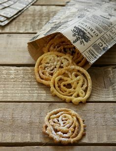 Funnel cakes in a pastry bag. Perfect late night treat for your wedding! via Food and Cook