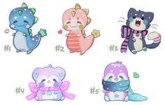 ] Random Cute Animal Adopts by Sarilain Kawaii Doodles, Cute Kawaii Drawings, Kawaii Chibi, Cute Animal Drawings, Animal Sketches, Cute Chibi, Animal Doodles, Creature Drawings, Super Cute Animals