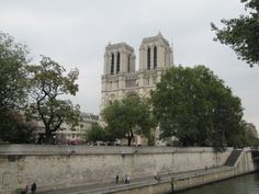 View of Notre Dame from the Left Bank.
