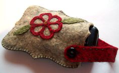 KIT  Embroidered Felt Cell Phone Case by erikaerin on Etsy, $13.50